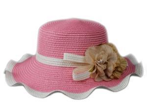 Woman Korean Style Summer Spring Wide Brim Floppy Flower Straw Braid Beach Sun Hat Cap
