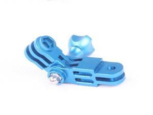 CNC Aluminum Three-Way Pivot Arm Mount Adapter Blue for Gopro HD Hero 2 3 Camera