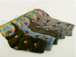 5Pairs/Lot Cute Bear Pattern Multi Colors Cotton Children's Socks Kids