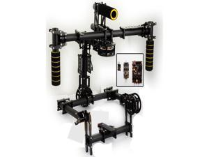 3K Carbon Fiber Aluminum 3 Axis Handle Stable Stabilization Brushless Gimbal With Motor BASECAM Controller for Canon 5D Mark III DSLR