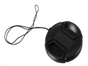 Center Pinch Snap-on Front Lens Cap 72 mm W/ Anti-lost Rope for Sony Canon Nikon Fuji Pentax Alpha Olympus DSLR