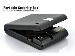Sourcingbay Biometric Fingerprint Safe Gun Pistol Car Biobox - Portable Home Security Box Executive (Black)