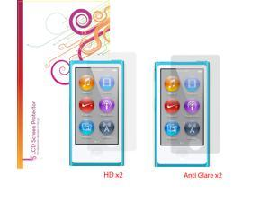 rooCASE 4-Pack x2 Anti-Glare Matte and x2 HD Screen Protector for iPod Nano 7