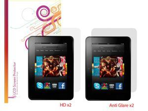 rooCASE 4-Pack Screen Protectors for Kindle Fire HD 7 (Old 2012 Model)