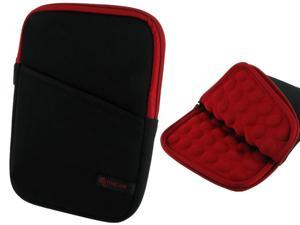 "roocase Bubble Sleeve Carrying Universal 7"" Tablet Case for iPad Mini Retina / Galaxy Tab 3 4 7.0 8.0 / Nexus 7 2013 / Asus MeMO Pad 7 ME173 ME176CX / HP 7 Slate Plus / Dell Venue Pro 7.0 8.0, Red"