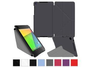 rooCASE SlimShell Flip Shell Folio Case Cover for Google Nexus 7 FHD, Gray