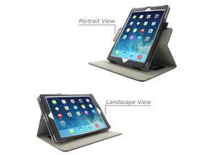 iPad Air Case - rooCASE Dual View Folio iPad Air 2013 Folio Case Smart Cover (Supports Auto Sleep/Wake) for Apple iPad Air 1 (2013) 5th Generation for iPad Air - Black