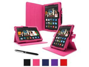 "rooCASE Amazon Kindle Fire HDX 8.9 Case - (2014 Current Generation) Dual View Multi Angle Tablet 8.9-Inch 8.9"" Stand Cover - MAGENTA"