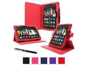 "rooCASE Amazon Kindle Fire HDX 8.9 Case - (2014 Current Generation) Dual View Multi Angle Tablet 8.9-Inch 8.9"" Stand Cover - RED"