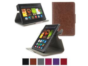 Kindle Fire HDX 7 Case - roocase Orb Folio 360 Rotating Case Stand with Detachable Fire HDX 7 Shell for Amazon Kindle Fire HDX 7 [Smart Cover Feature with Auto Sleep / Wake], Brown