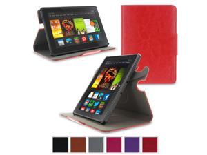 Kindle Fire HDX 7 Case - roocase Orb Folio 360 Rotating Case Stand with Detachable Fire HDX 7 Shell for Amazon Kindle Fire HDX 7 [Smart Cover Feature with Auto Sleep / Wake], Red