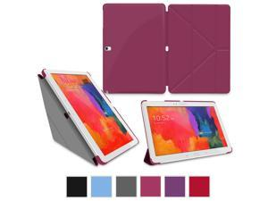 Galaxy Tab Pro 10.1 Case, rooCASE Origami Slim Shell Folio Case Cover with Stand for Samsung Galaxy Tab Pro 10.1 / Note 10.1 2014 Edition (With Auto Wake / Sleep Smart Cover), Magenta