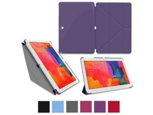 Galaxy Tab Pro 10.1 Case, rooCASE Origami Slim Shell Folio Case Cover for Samsung Galaxy Tab Pro 10.1 / Note 10.1 2014 Edition (With Auto Wake / Sleep Smart Cover), Purple