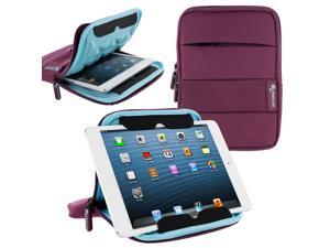 roocase XTREME Super Foam Universal 7-inch Sleeve Case with Stand for iPad Mini / Galaxy Tab 7.0 8.0 / Tab S 8.4 / Fire HD 6 7 HDX 7 / Nexus 7 2013 / Asus MeMO Pad 7 ME173 ME176 and More, Purple