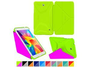 Galaxy Tab 4 7.0 Case, Samsung Galaxy Tab 4 7.0 Case, rooCASE Origami Slim Shell Lightweight Folio Leather PU Stand Smart Cover Tab 4 7 Tablet Green