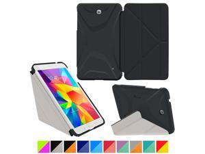 Galaxy Tab 4 7.0 Case, Samsung Galaxy Tab 4 7.0 Case, rooCASE Origami Slim Shell Lightweight Folio Leather PU Stand Smart Cover Tab 4 7 Tablet Black