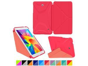 Galaxy Tab 4 7.0 Case, Samsung Galaxy Tab 4 7.0 Case, rooCASE Origami Slim Shell Lightweight Folio Leather PU Stand Smart Cover Tab 4 7 Pink