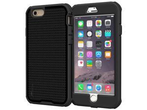 iPhone 6s Plus Case - roocase VersaTough iPhone 6 Plus 5.5 Case PC / TPU Hybrid Military Armor Case with Built-in Screen Protector for Apple iPhone 6 Plus (5.5-inch), Granite Black