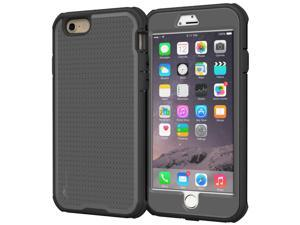 iPhone 6s Plus Case - roocase VersaTough iPhone 6 Plus 5.5 Case PC / TPU Hybrid Military Armor Case with Built-in Screen Protector for Apple iPhone 6 Plus (5.5-inch), Space Gray