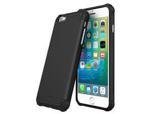 iPhone 6s Plus Case, roocase [Exec Tough PRO] iPhone 6s Plus Slim Fit Case Hybrid PC / TPU [Corner Protection] Armor Cover Case for Apple iPhone 6 Plus / 6s Plus (2015), Granite Black