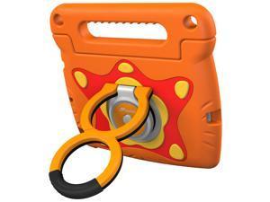iPad Mini 4 Case Bundle, roocase Orb Starglow iPad Mini 4 Kids Case Convertible Handle Stand Kid Friendly Foam Cover with Detachable Orb Loop Stand for Apple iPad Mini 4 (2015), Orange