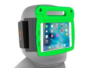 iPad Mini 4 Case Bundle, roocase Orb Starglow iPad Mini 4 Kids Case Convertible Handle Stand Kid Friendly Foam Cover with Detachable Orb Strap Car Mount for Apple iPad Mini 4 (2015), Green