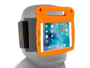 iPad Mini 4 Case Bundle, roocase Orb Starglow iPad Mini 4 Kids Case Convertible Handle Stand Kid Friendly Foam Cover with Detachable Orb Strap Car Mount for Apple iPad Mini 4 (2015), Orange