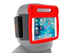 iPad Mini 4 Case Bundle, roocase Orb Starglow iPad Mini 4 Kids Case Convertible Handle Stand Kid Friendly Foam Cover with Detachable Orb Strap Car Mount for Apple iPad Mini 4 (2015), Red