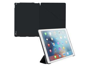 iPad Pro Case, roocase Origami iPad Pro Slim Shell Folio Case Cover for Apple iPad Pro 12.9-inch (2015) All-new iPad [Supports Smart Cover Auto Sleep/Wake], Granite Black