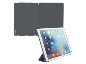 iPad Pro Case, roocase Origami iPad Pro Slim Shell Folio Case Cover for Apple iPad Pro 12.9-inch (2015) All-new iPad [Supports Smart Cover Auto Sleep/Wake], Space Gray