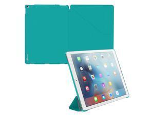 iPad Pro Case, roocase Origami iPad Pro Slim Shell Folio Case Cover for Apple iPad Pro 12.9-inch (2015) All-new iPad [Supports Smart Cover Auto Sleep/Wake], Turqouise Blue
