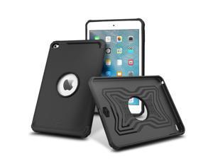 iPad Mini 4 Case, rooCASE [MIL-SPEC Military-Grade Certified] Slim Fit Rugged Exec Tough Case Cover for Apple iPad Mini 4, Black