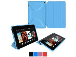 Fire HD 7 2014 Case, roocase Optigon Kindle Fire HD 7 2014 3D Slim Shell Case with Stand for Amazon Kindle Fire HD 7 2014 (4th Generation) [Supports Sleep/Wake Function], Blue