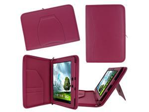 rooCASE ASUS MeMO Pad FHD 10 ME302C / MeMO Pad Smart 10 ME301T Executive Portfolio Leather Case Cover - Magenta