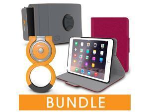 roocase iPad Mini Orb Bundle, Folio Case Cover Stand for Apple iPad Mini 4 / Mini 3 2 1 with Orb Loop and Strap - Rotating and Detachable iPad Mini 4 / Mini 3 2 1 Tablet Shell Case, Magenta