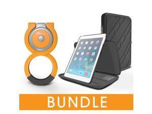 roocase iPad Mini Orb Bundle, Exec Portfolio Case for Apple iPad Mini 3 2 1 with Orb Loop Stand - Rotating and Detachable iPad Mini Shell Case [Patented Orb System]