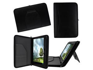rooCASE ASUS MeMO Pad FHD 10 ME302C / MeMO Pad Smart 10 ME301T Executive Portfolio Leather Case Cover - Black