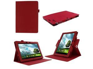 rooCASE ASUS MeMO Pad FHD 10 Case ME302C / ME301T - Dual View Multi Angle Stand Cover -  Red