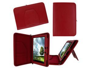 rooCASE ASUS MeMO Pad FHD 10 ME302C / MeMO Pad Smart 10 ME301T Executive Portfolio Leather Case Cover - Red