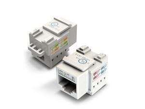 1-Pack Ethernet Keystone, GearIT Cat6 RJ45 Punch-Down Keystone Jack Connector, White