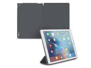 iPad Pro 9.7 Case, Apple iPad Pro 9.7 Folio Case, roocase Origami Slim Shell Folio Case with Stand Feature Feature for 9.7-inch iPad Pro, Gray