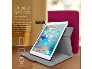 iPad Mini 4 Case, roocase Orb Folio 360 Rotating PU Leather Case Cover for Apple iPad Mini 4 2015 / Mini 3 2 1 [Supports Sleep/Wake Feature] Magenta