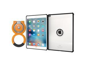 iPad Pro Case, Apple iPad Pro 12.9 Case, rooCASE Orb Clarico Clear Back Tough Case with Orb Loop Stand & Loop for iPad Pro 12.9 (2015), Black