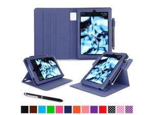 Kindle Fire HD 7 Tablet (2014) Case, roocase 2014 Kindle Fire HD 7 Dual View Folio Case with Sleep / Wake Smart Cover Stand for 2014 Model Fire HD 7 Tablet (4th Generation), Navy
