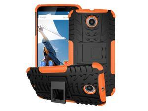 Nexus 6 Case - roocase [TRAC Armor] Hybrid Nexus 6 2014 Dual Layer Rugged Case Cover with Kickstand roocase for Google Nexus 6 Phone 5.9-inch (2014), Orange