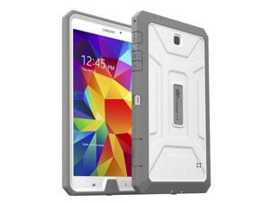 """Samsung Galaxy Tab 4 8.4 Case, GearIT SHOXX PC/TPU Silicone Hybrid Rugged Hard Shell Cover Tablet Case for Galaxy Tab 4 8.4"""" SM-T700, Gray / White"""