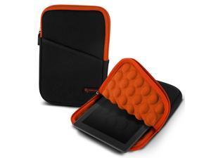 "roocase Bubble Sleeve Carrying Universal 7"" Tablet Case for iPad Mini Retina / Galaxy Tab 3 4 7.0 8.0 / Nexus 7 2013 / Asus MeMO Pad 7 ME173 ME176CX / HP 7 Slate Plus / Dell Venue Pro 7.0 8.0, Orange"