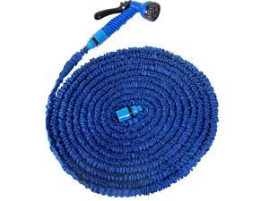NEW Magic snake X Hose for Home outdoor Garden car Expandable hoses Pocket Water watering your lawn flowers cars Hose for gardener housewife well organized 50FT(15Meters) blue