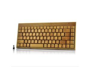 Wireless Handcrafted Eco-Friendly Bamboo Keyboard