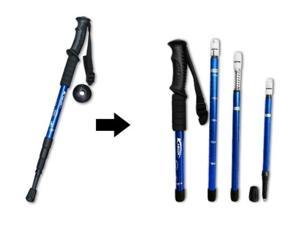 Telescopic Walking Hiking Stick with a Compass for Exercise Fitness